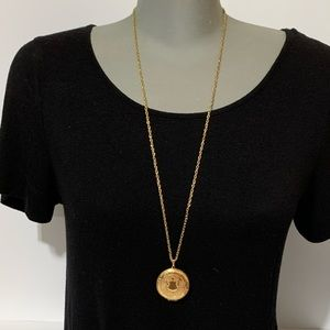 Vintage Gold Locket w/ long necklace chain